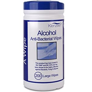 200 Alcohol Anti Bacterial Hand Multi Surface Wipes. Effective Against MRSA, Salmonella & Listeria - Comes With TCH Anti-Bacterial Pen!