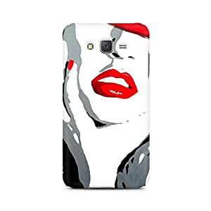 Ebby Red Lips Premium Printed Case For Samsung J3 2016