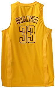 NBA Indiana Pacers Winter Court Big Color Swingman Jersey, #33 Danny Granger, Gold by adidas