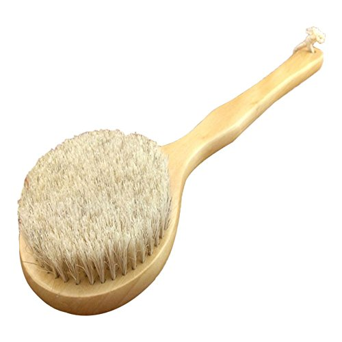 ACE New Natural Bristle Long Horse Hair Handle Wooden Wood Bath Shower Body Back Brush Spa Scrubber (Horse Hair Scrub Brush compare prices)