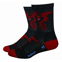 Buy DeFeet WoolEator Dragons Hi-Top Cycling Running Socks by Defeet