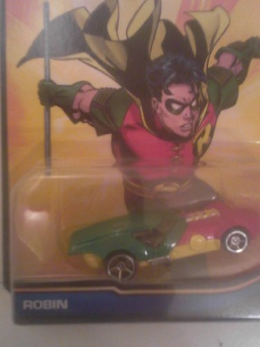 Hot Wheels 2013 DC Comics Robin Green/Red/Yellow