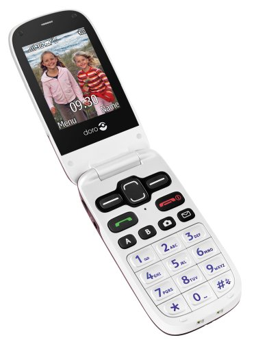 Doro PhoneEasy 621 UK Sim Free Mobile Phone - Burgundy/White Black Friday & Cyber Monday 2014