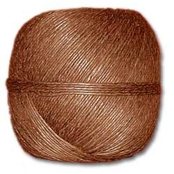 Brown Polished 20# Hemp Twine