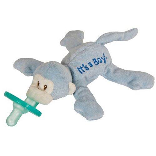 "Wubbanub Monkey ""It'S A Boy"" Pacifier front-434709"