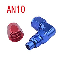 New 10 AN AN-10 Pipe Joints Aluminum 90 Degree Enforced Oil/Fuel Fitting Adapter Car Accessories High Quality AN 10 Hose End Fitting