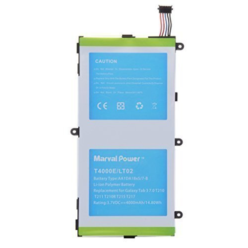 Marval Power Internal Battery 4000mAh Replacement for Samsung Galaxy Tab 3 7.0 SM-T210R T210 T211 T217 T2105
