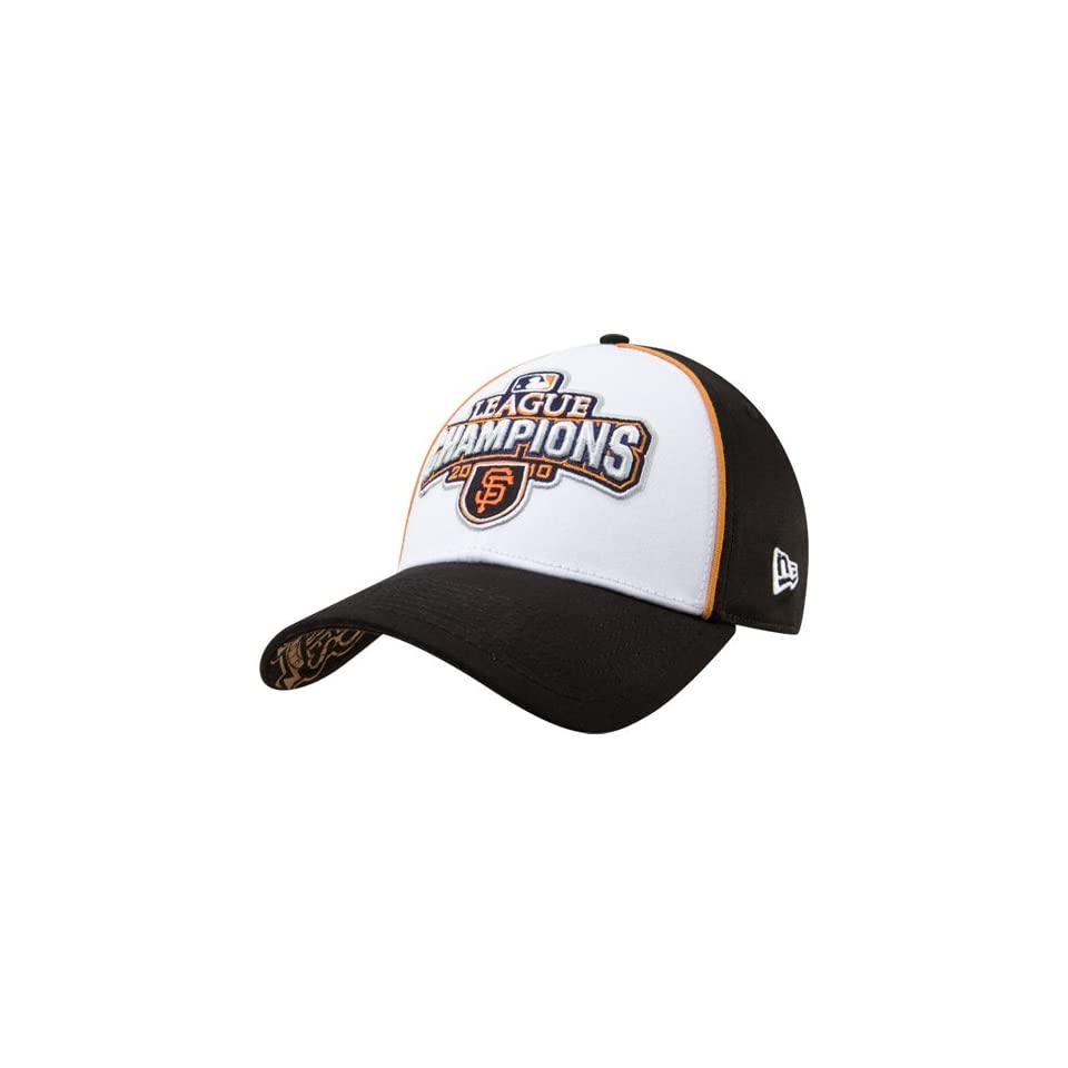 New Era San Francisco Giants Black 2010 NLCS Champions Official Locker Room Flex Fit Hat