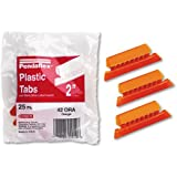 Hanging File Folder Tabs 1/5 Tab Two Inch Orange Tab/White Insert 25/Pack