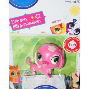 Littlest Pet Shop Single Figure Pink Dog - 1