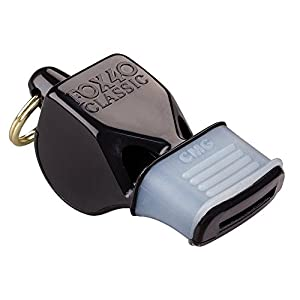 Fox 40 CMG Whistle with Cushioned Mouth Grip - Black