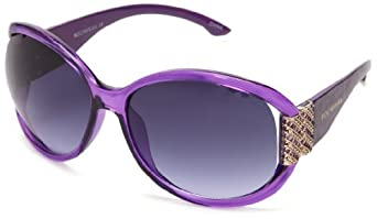 Rocawear R3111 PRAN Oval Sunglasses,Purple Animal,64 mm