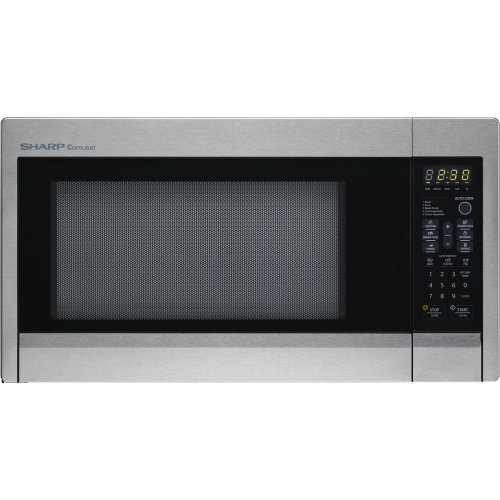 Sharp Carousel R-431Zs 1.3 Cubic Feet 1000-Watt Countertop Microwave Oven, Stainless Steel