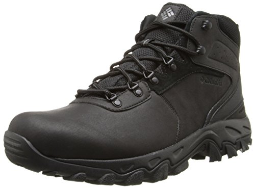 Columbia Men's Newton Ridge Plus II WP Hiking Boot, Black/Black, 11 D US