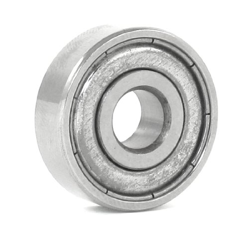 Silver Tone Metal Sealed 627Z Deep Groove Ball Bearing 7Mm X 22Mm X 8Mm