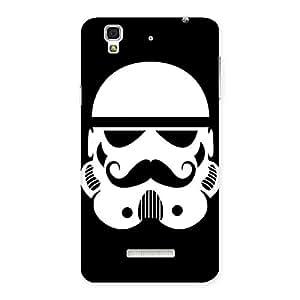 Enticing Mustach Black Back Case Cover for Yu Yureka
