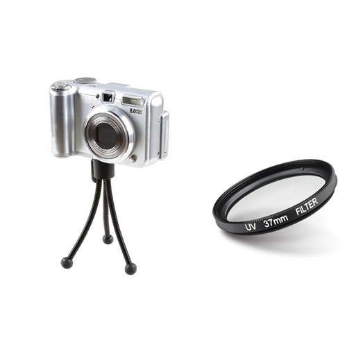 eForCity 37mm Lens Filter + Retractable Tripod for 37mm lens Cameras