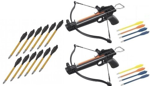 2 Pack 50 Lb Crossbow Gun Pistol Archery Crossbow