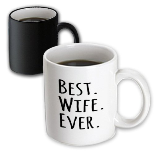 3Drose Best Wife Ever Fun Romantic Married Wedded Love Gifts Magic Transforming Mug, 11-Ounce