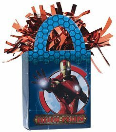 Iron Man Mini Tote Balloon Weight - 5.5 In. x 3 In. Each