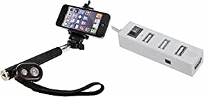 Bluetooth Selfie stcik and 4 Port USB HUB  For Sony Xperia U