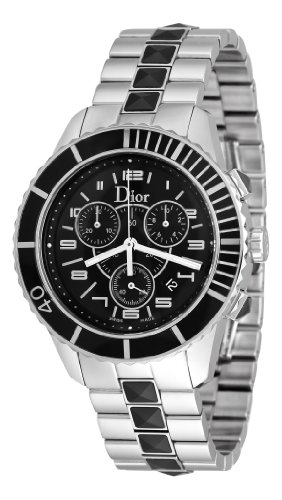 Christian Dior Men's CD114317M001 Christal Black Chronograph Dial Watch