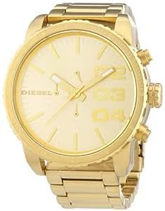 Diesel Men's DZ4268 Double Down Series Analog Display Analog Quartz Gold Watch