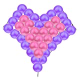 40pcs Globos con Forma de Corazón Modelado Rejilla Boda del Partido del Suministro de Decoración - púrpura oscuro+rosa oscuro, 20+24+1