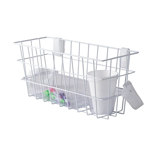 HealthSmart Universal Walker Basket with Plastic Insert Tray and Cup Holder, No Tools Needed, White (Walker Basket With Insert compare prices)