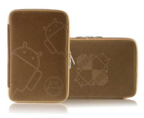 7 Inch Tablet Zip Sleeve Premium Cover Case Bag for Google Nexus 7, Amazon Kindle Fire, Nook Color and 16:9 Tablet (Brown)
