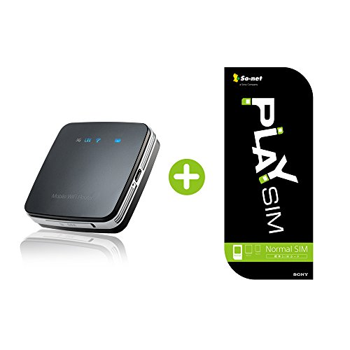 Amazon.co.jp 限定So-net PLAY SIM+LTE対応モバイルWi-FiルーターセットFS010W 131074