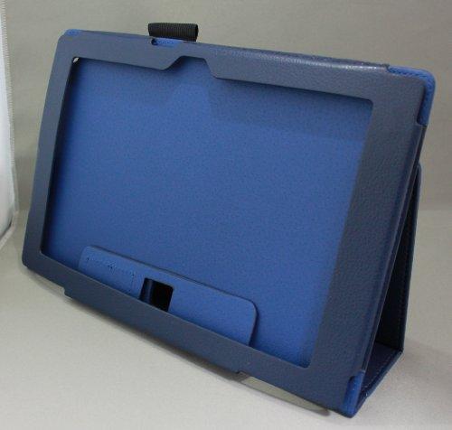 Homu HomuXperia Tablet Z SO-03E全11色PUレザーケース PUレザーカバー エクスペリアタブレットZ レザーケースレザーカバースタンド機能付 ペンホルダー付/SGP312JP (ネイビー ブルー)(24-7)