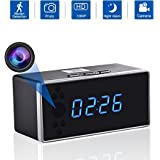 Spy Hidden Camera, WHDSWL HD1080 WiFi Alarm Clock Security Camera Motion Detection Night Vision Loop Recording, for Nanny Home Office (iPhone, Android and PC) .