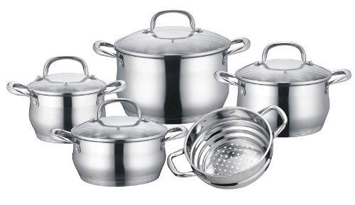 Concord 9 Piece Stainless Steel 5-Ply Bottom Cookware Set (Induction Compatible) (Concord Induction compare prices)