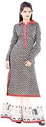 JYOTI Women's Cotton Unstiched salwar Suit (JBAM-40, Black )