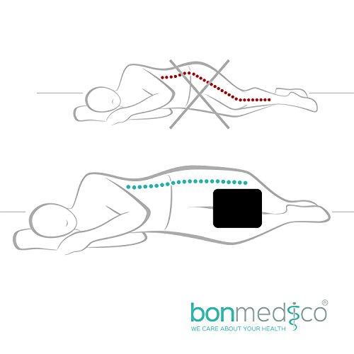 bonmedico orthop disches knie kissen f r seitenschl fer sorgt f r druckentlastung und. Black Bedroom Furniture Sets. Home Design Ideas
