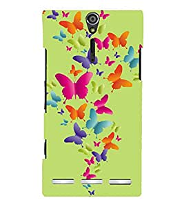 printtech Butterfly Back Case Cover for Sony Xperia S Lt26i