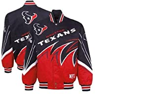 Houston Texans Twill Full Button up Jacket by NFL