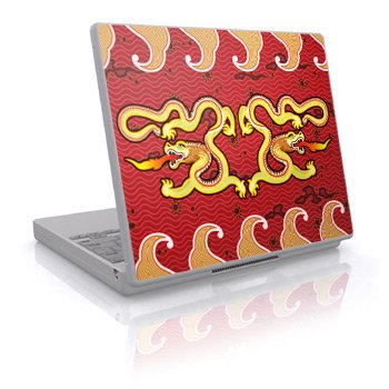 Double Dragon Design Skin Decal Sticker Cover for Laptop Notebook Computer - 15