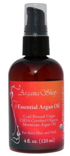 Essential Argan Oil, 100% Pure Virgin Cold Pressed, USDA certified organic, 4 Fl.oz