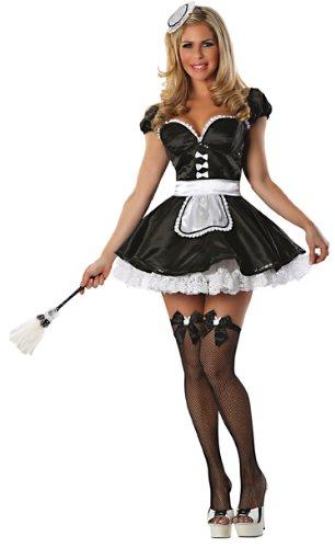 Playboy Ma Cherie Maid Costume, Black, X-Small