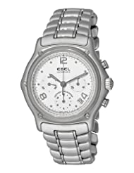 Ebel Men's 9137240/16765P 1911 Automatic Chronograph White Dial Watch