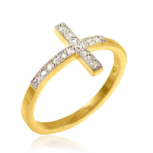 14k-Gold-Sideways-Cross-Ring-with-Diamonds