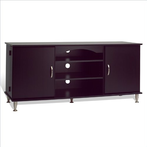 "Cheap Prepac 60″"" Plasma TV Stand with Media Storage in Black Finish (BPS-6000)"