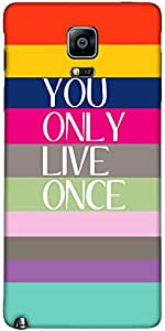 Snoogg Yolo Case Cover For Samsung Galaxy Note Iiii / Note 4