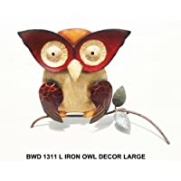 D-ART Iron OWL Large WALL Garden Decor