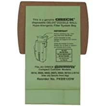 Oreck Commercial PKBB12DW Super Compact Canister Advanced Filtration Disposable Bags (Pack of 12)