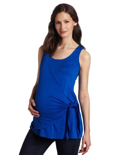 Maternal America Women's Maternity Side Wrap Tank Top