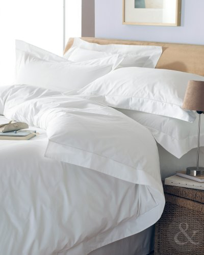 Awesome  COTTON OXFORD DUVET COVER Thread Count Percale Bedding Bed Set White King Size Quilt Cover kingsize