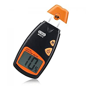 Dr. Meter® Wood Moisture Meter MD-812 Digital LCD Display - To Measure the Percentage of Water in Given Substance